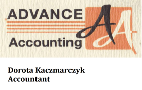 Advance Accounting Dorota Kaczmarczyk, Accounting and Bookkeeping for businesses all year around, Payroll, WSIB, Income Tax, GST & PST, Financial Statements, Tax Planning